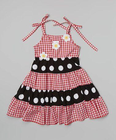 Love this Red Gingham Tiered Princess Dress - Toddler & Girls on #zulily! #zulilyfinds