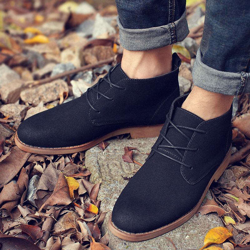 US $23 Men's High Quality Creepers Casual Suede Boots Shoes Men Ankle Boots Desert Boots Male is part of Shoe boots -