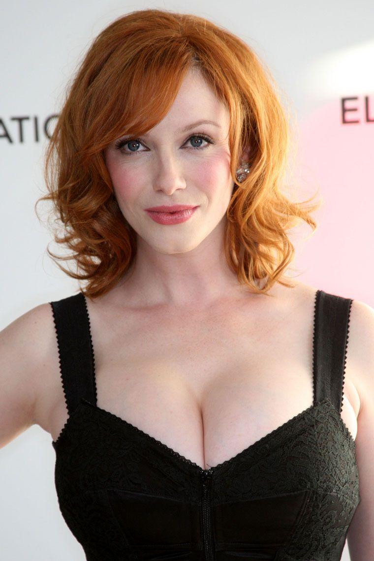 Watch Christina hendricks flashes huge boobs in deep cleavage video