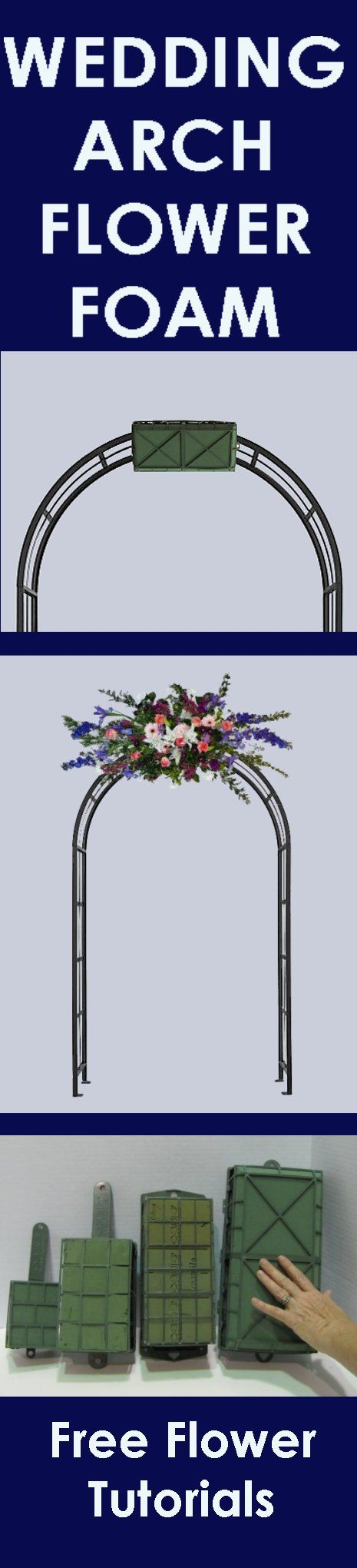 Wedding flower arch easy step by step flower tutorials learn how wedding flower arch easy step by step flower tutorials learn how to make bridal bouquets wedding corsages church decorations and wedding table junglespirit Image collections