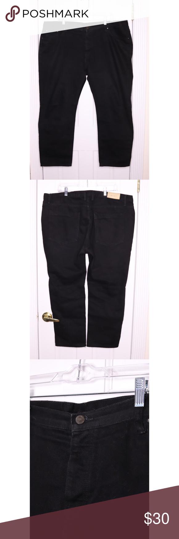 mnml C106 Black Rinsed Cropped Denim Jeans Mens mnml C106