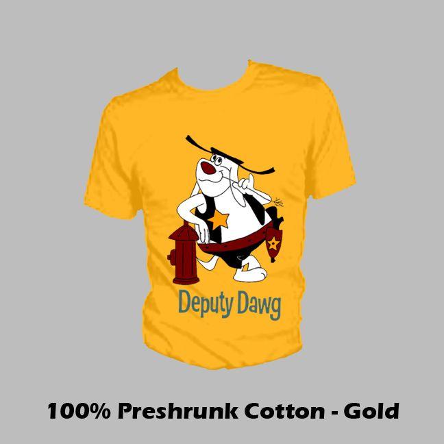 6d8234e87 DEPUTY DAWG HYDRANT CARTOON T SHIRT   Stuff   Cartoon t shirts ...