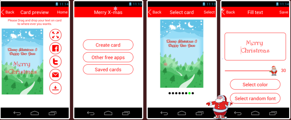 download cool christmas card creator christmas card maker x mas free app