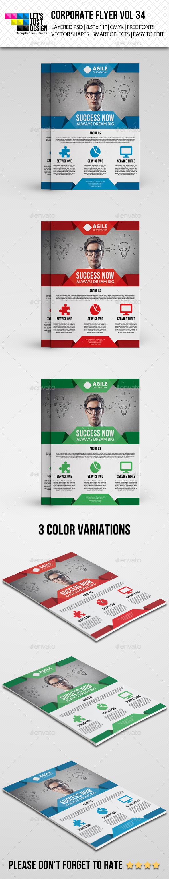 Corporate Flyer Template PSD | Buy and Download: http://graphicriver.net/item/corporate-flyer-template-vol-34/9070437?WT.ac=category_thumb&WT.z_author=letsjustdesign&ref=ksioks