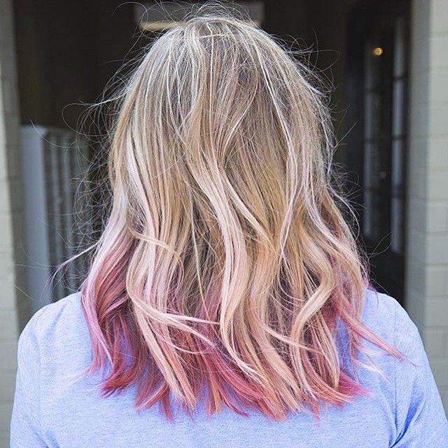Sitting Pretty Hairstyles Haare Blond Farben Gefarbte Haarspitzen Rosa Blonde Haare