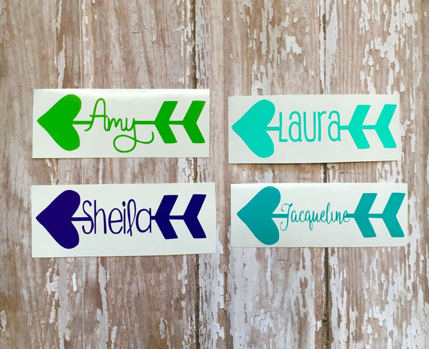 Arrow Heart Name Vinyl Decal Arrow Yeti Tumbler Name Decal Car - Transfer tape for vinyl decals