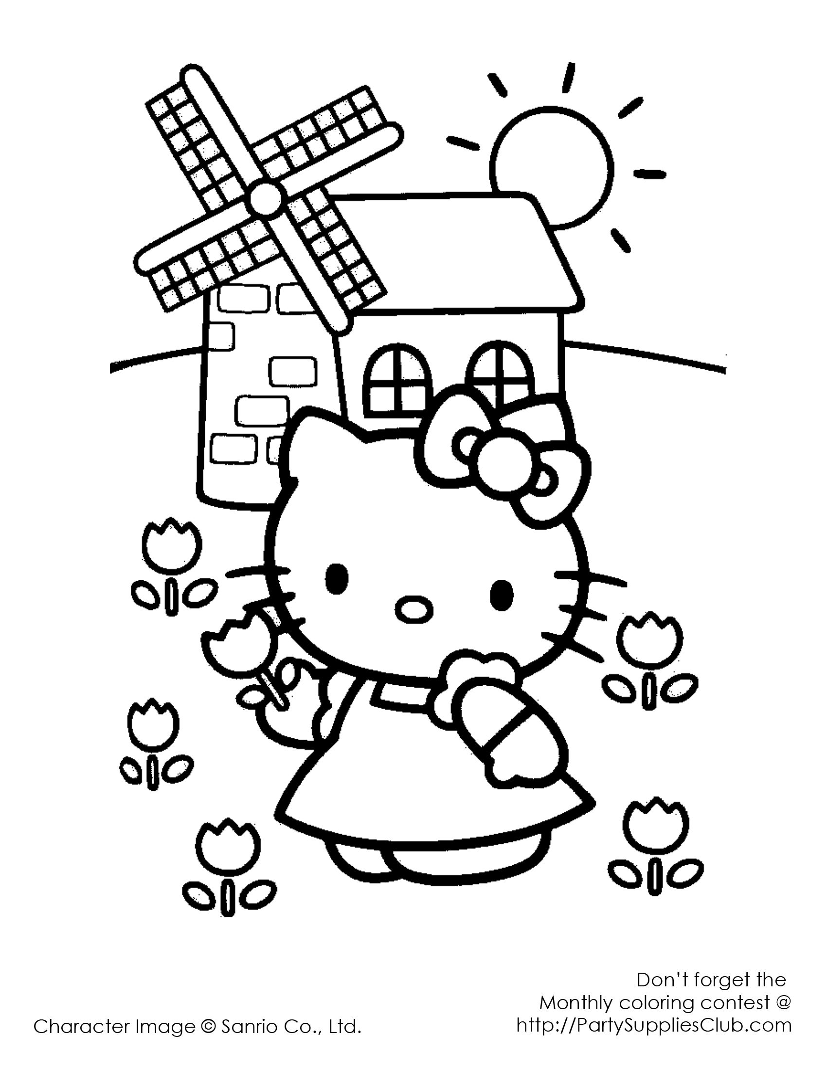 hello kitty colouring page | Hello Kitty! | Pinterest