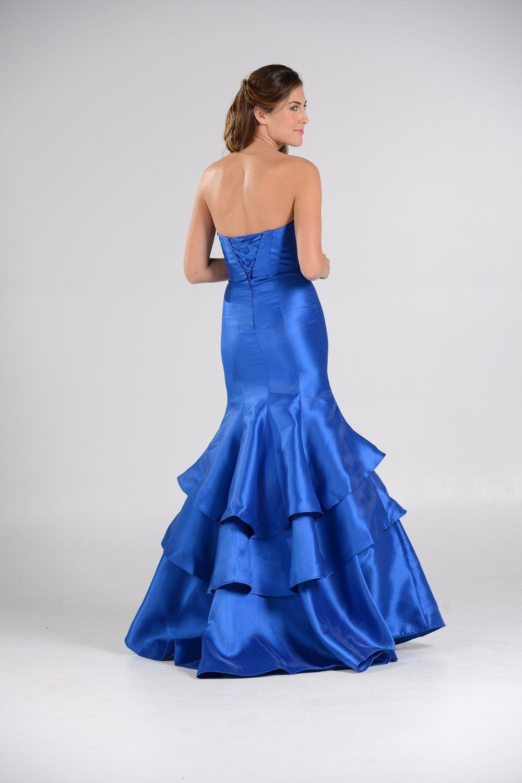 Glamorous satin mermaid bridesmaid dress pol mermaid and satin