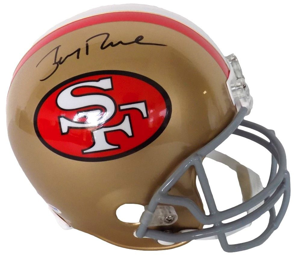818310586 Jerry Rice Signed San Francisco 49ers Full Size Riddell Replica Helmet PSA  - Sports Integrity