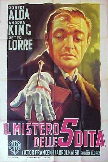 'The Beast with Five Fingers' - this Italian poster is far more enjoyable than the film he was unhappy making.