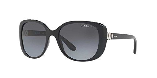82fa8242ed Vogue Eyewear Womens Sunglasses BlackGrey Plastic Polarized 55mm >>> You  can get additional details at the image link.Note:It is affiliate link to  Amazon.