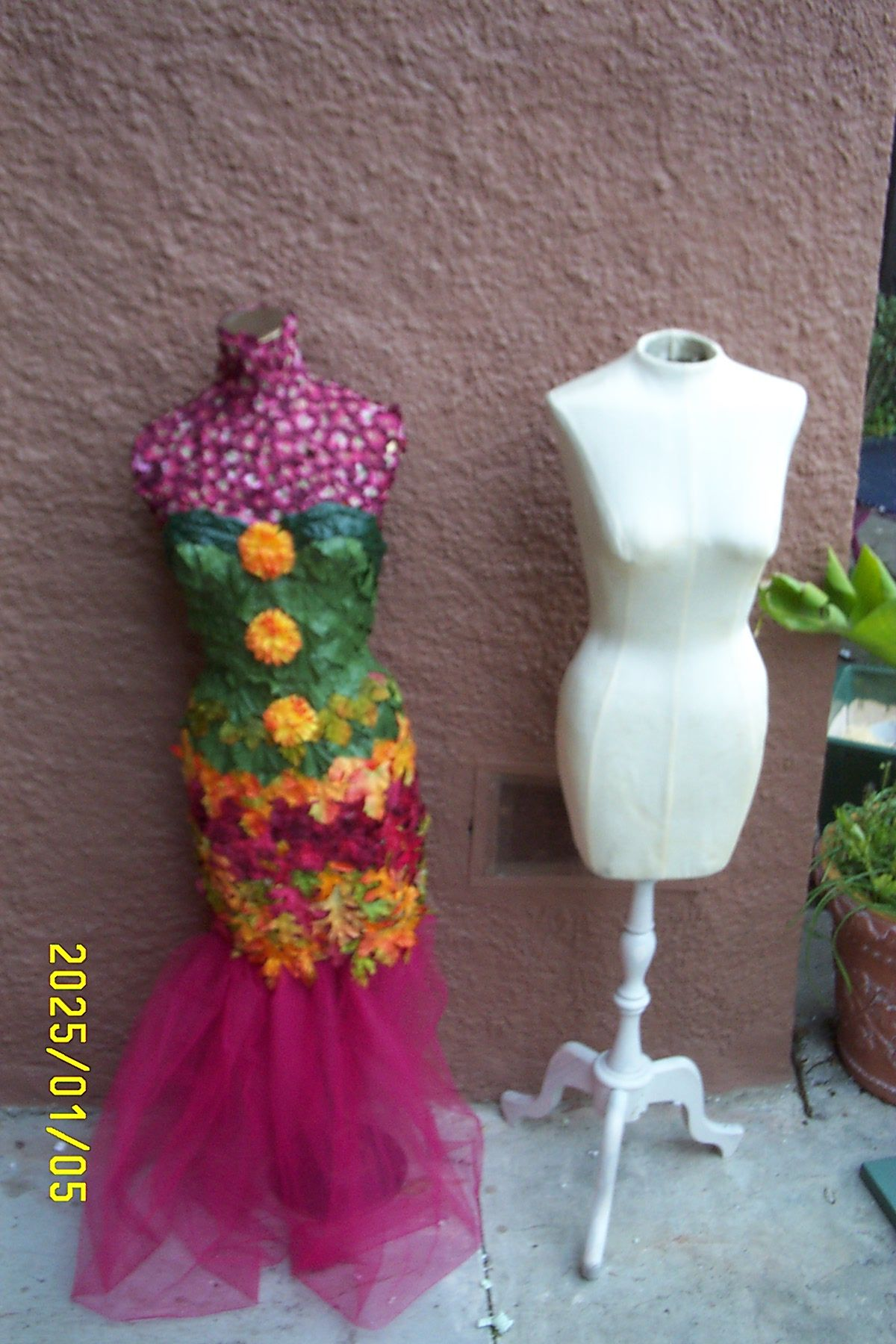 This is made out of silk flowers by dona taylor owner of for What do we use silk for