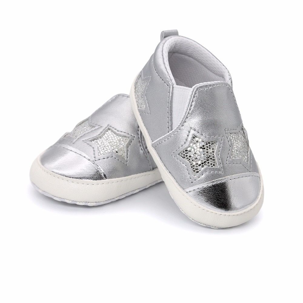 New Fashion Star Baby shoes Newborn Boys Girls First Walkers Infant Toddler  Soft Bottom Anti-slip Prewalker Sneakers Crib shoes c2d8b4bbc62f