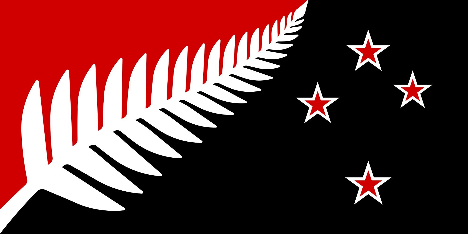 Māori Tattoos History Practice And Meanings: Silver Fern (Black,White & Red) By Kyle Lockwood From