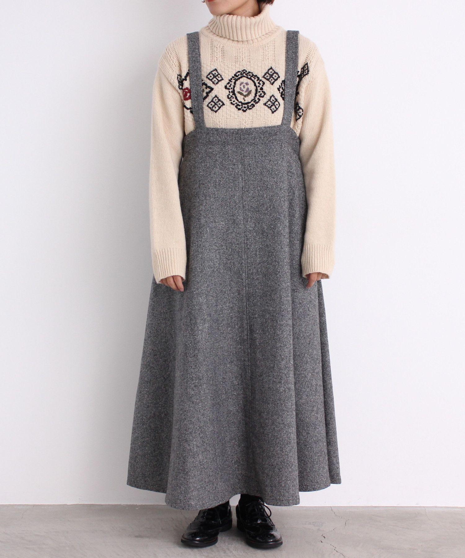 a4c4f0ff6c9f0 Malle chambre de charme malle シルクネップツイード 吊りスカート ...