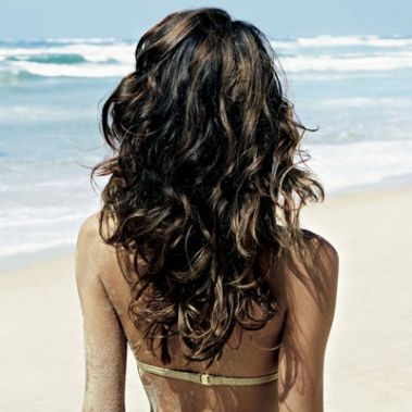 to create Wavy Hair – mix a teaspoon of salts + a few drops of olive (or jojoba) oil + 1/4 cup H20 in a spritzer bottle and mist on damp hair.