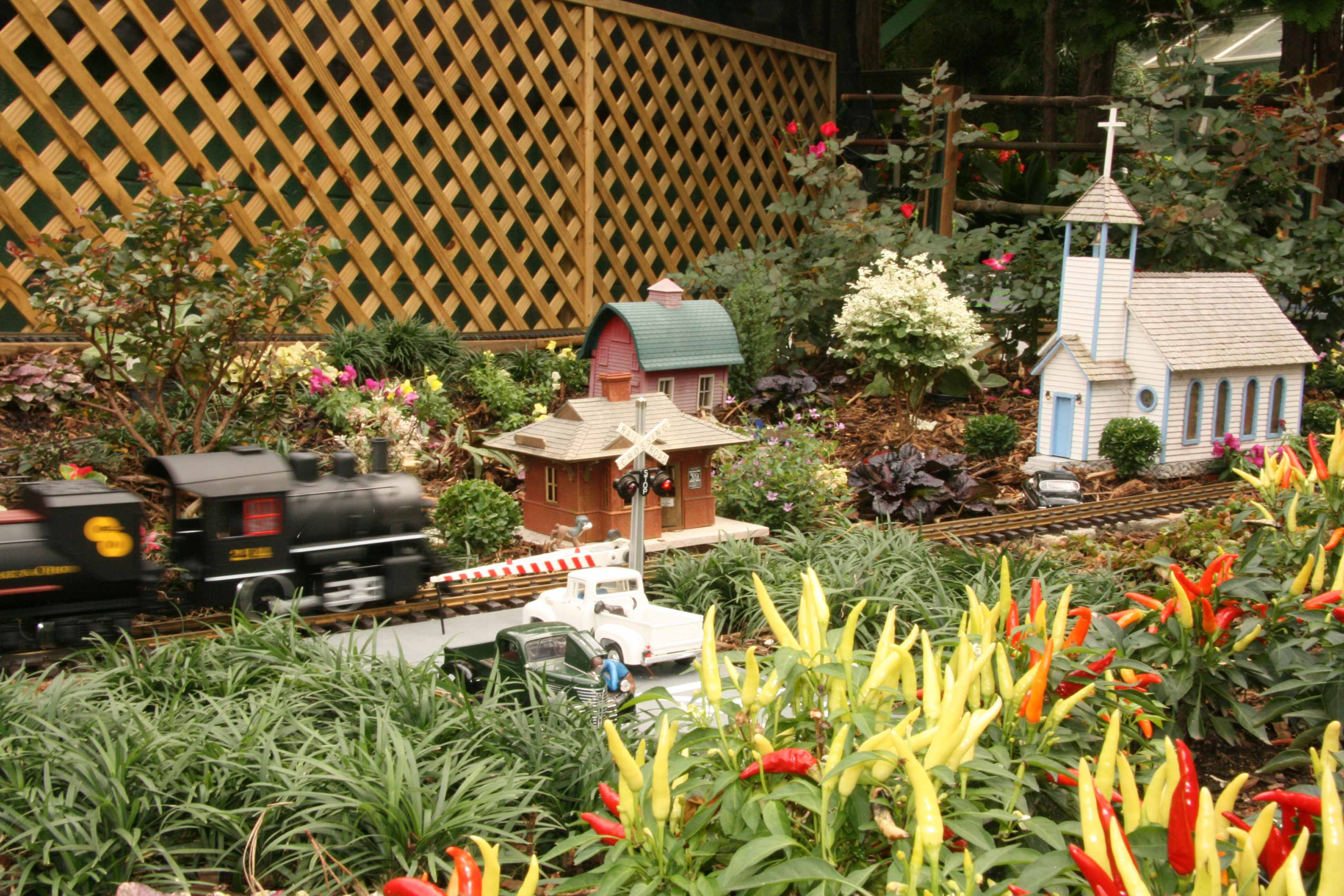 The N.C. Garden Railroad Society\'s train and garden display is a new ...
