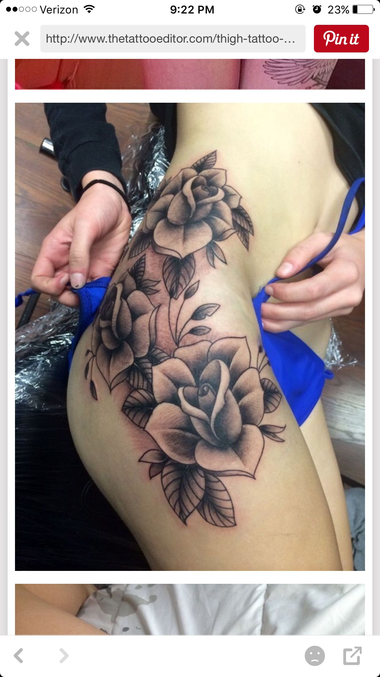 pictures 23 Back of Thigh Tattoo Ideas for Women