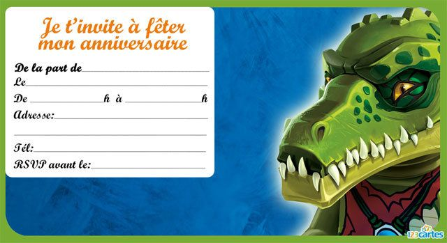 16 invitations anniversaire lego chima à imprimer gratuitement
