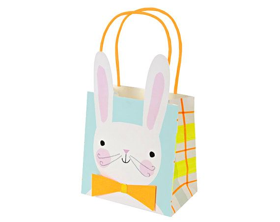 A delightful set of gift bags for easter with easter bunny a delightful set of gift bags for easter with easter bunny character complete with big ears negle Image collections