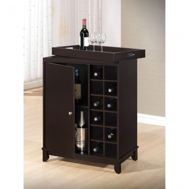 ksp tennessee wine cabinet with removable tray set of 2 wenge