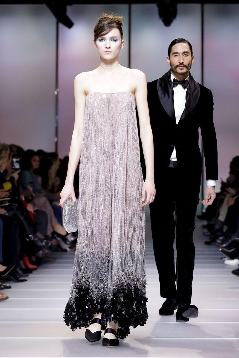 35e30cf3249 Giorgio Armani Prive Fashion Show Couture Collection Spring Summer 2018 in  Paris