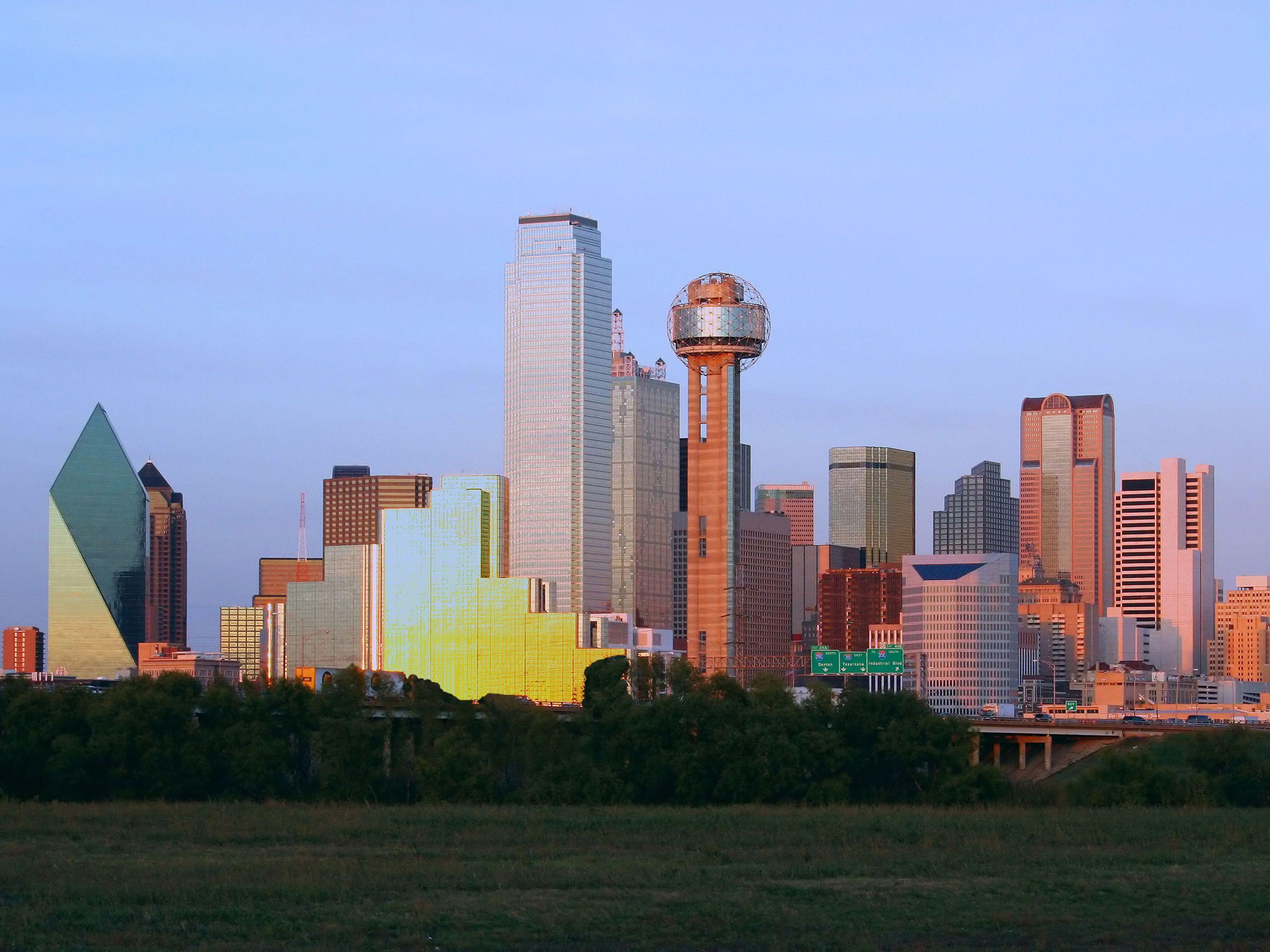 Dallas City Dallas skyline, Dallas city, Skyline