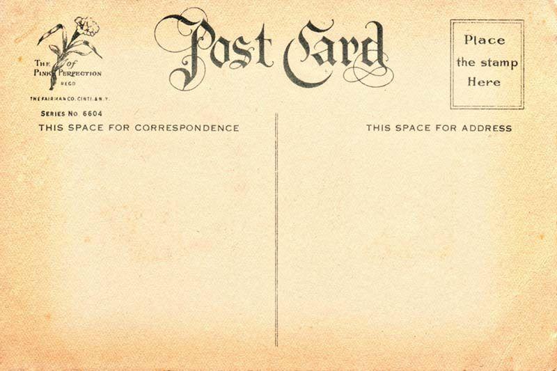 Free Vintage Postcard Back 7 Flickr Photo Sharing
