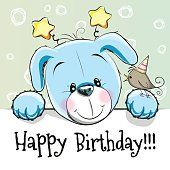 Birthday card with Puppy