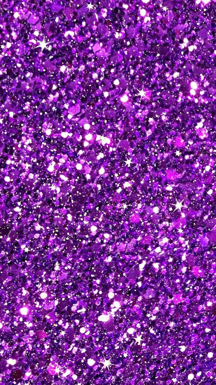 Purple Glitter Girly Pattern Iphone 6 6s Plus Wallpapers