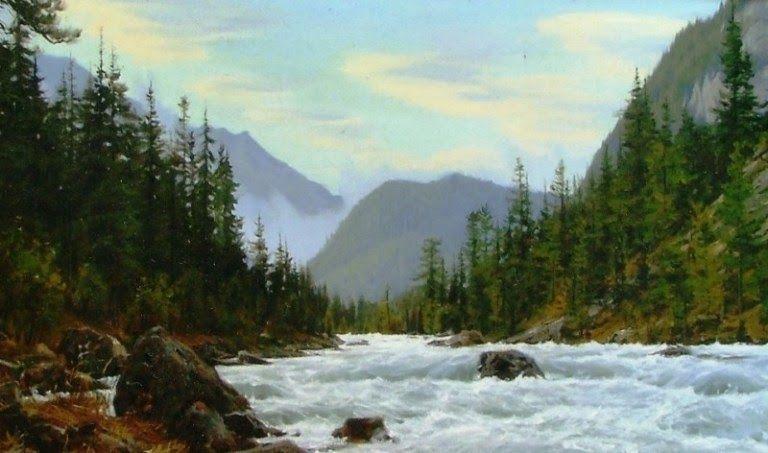 26 Contoh Lukisan Pemandangan Gunung Simple Gambar Tersebut Mengabadikan Pemandangan Sungai Dan Alam Disekitarnya Seperti P Di 2020 Pemandangan Pantai Cenang Lukisan