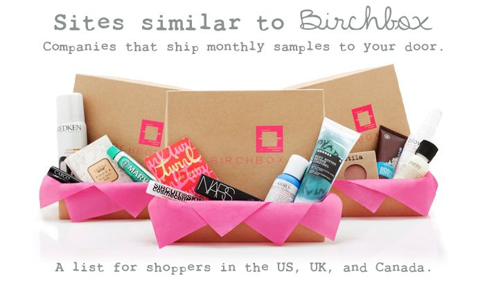 huge list of monthly subscription boxes like birchbox mode femme essayer et projet. Black Bedroom Furniture Sets. Home Design Ideas