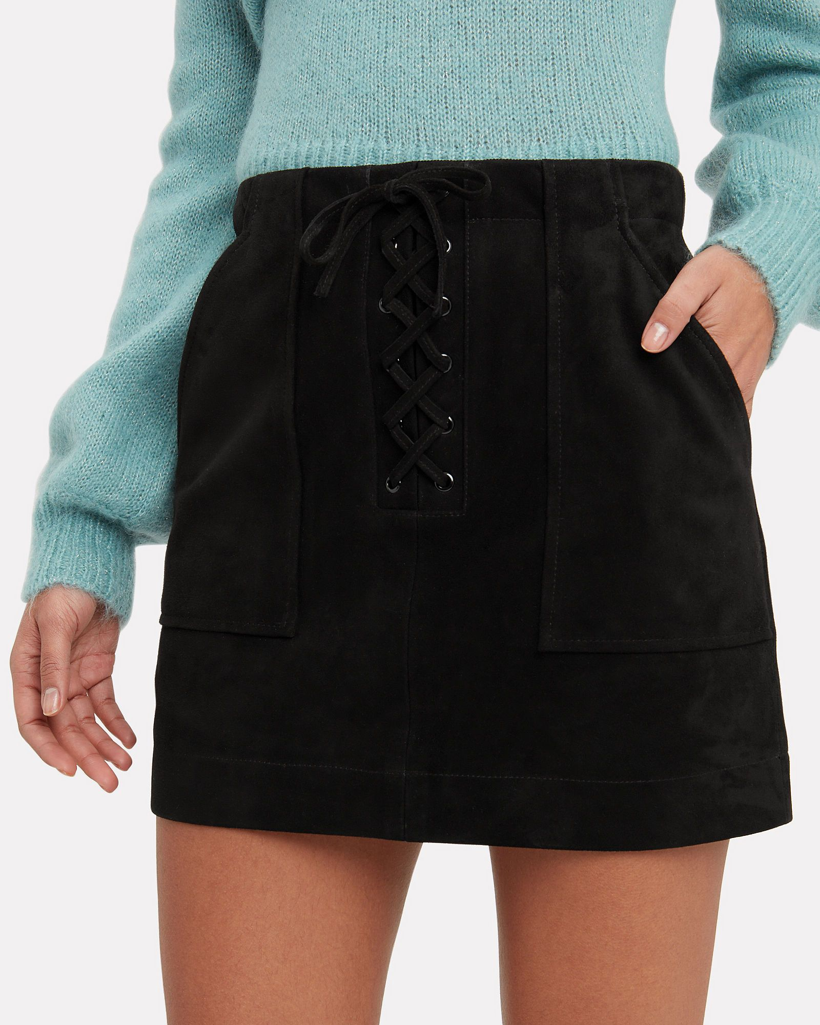 d5fe470e665e Ainsley Suede Mini Skirt, BLACK, hi-res | Wish List in 2019 | Mini ...