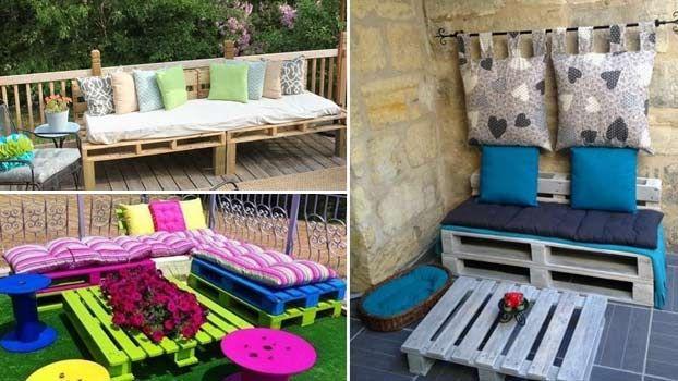 Divani da giardino economici con bancali di legno divani outdoor decor outdoor furniture e - Mobili da giardino economici ...