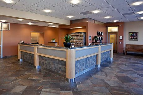 Stone Flooring Stone Counter Face Paw Prints On Ceiling Hospital Design Clinic Design Home Interior Design