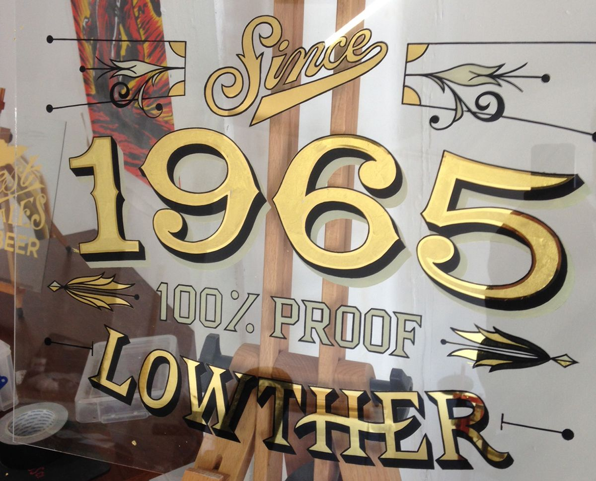 1965 Gilded Pub Mirror On Behance Sign Painting Lettering Mirror Painting Sign Writing