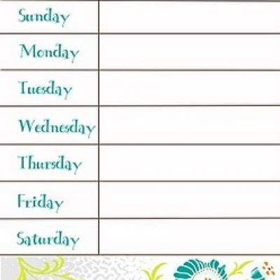 Free Printable Weekly Menu Planner  For The Home