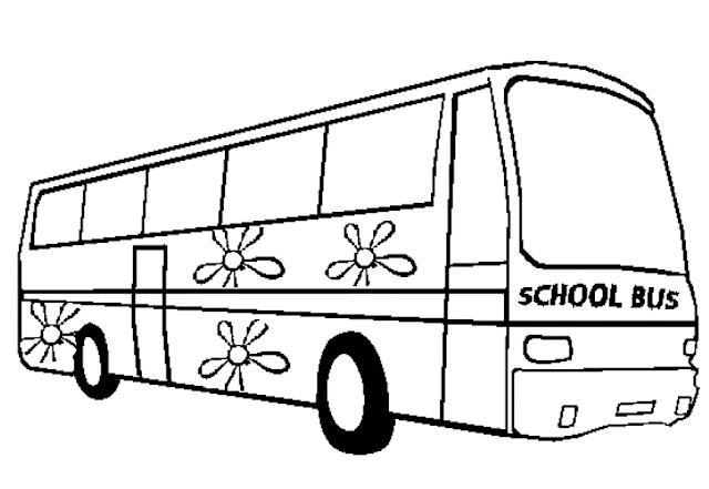 Gambar Mewarnai Bus Sekolah 8 Di 2021 Bus Sekolah Sekolah Warna