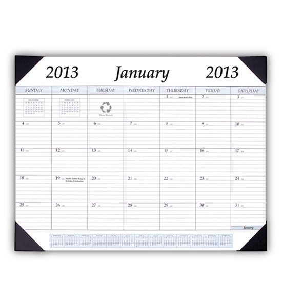 Use the 2013 Desk Calendar in your office to schedule the new year ...