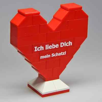 Details Zu LEGO Herz Mit Persönlicher Gravur Für Deine Liebe Oder Liebsten Zum  Valentinstag