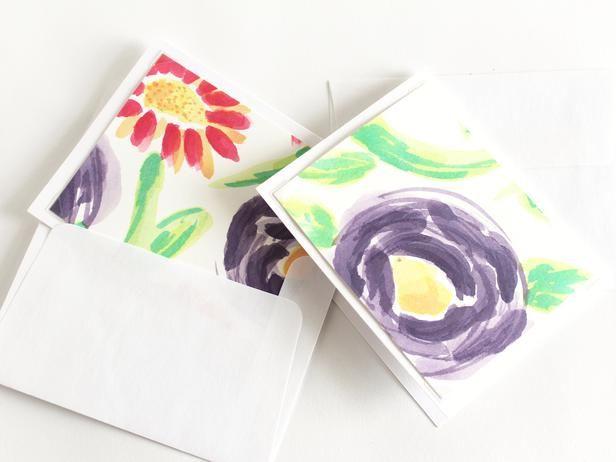 Diy Watercolor Notecards Monthly Diy Challenge Doodling