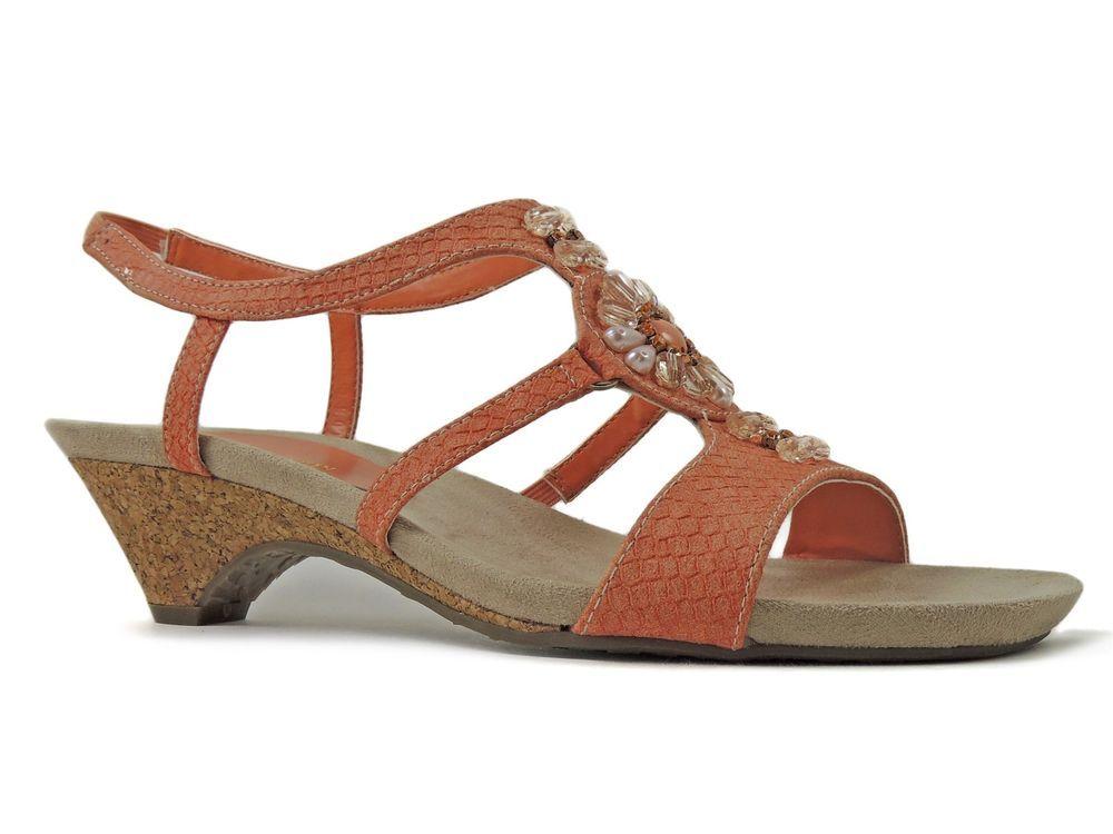 5 Sandals Size Orange Anne Klein Tinny Manneklein Women's 9 sQtdhr