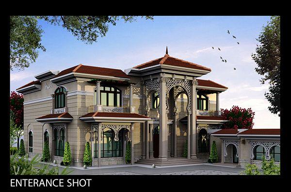 Classic villa exterior client sheikh khaledlocation for Design interior rumah villa
