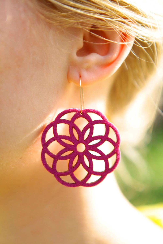 Botanical Laser Cut Earrings