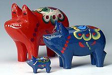 Large Traditional Dala Pig