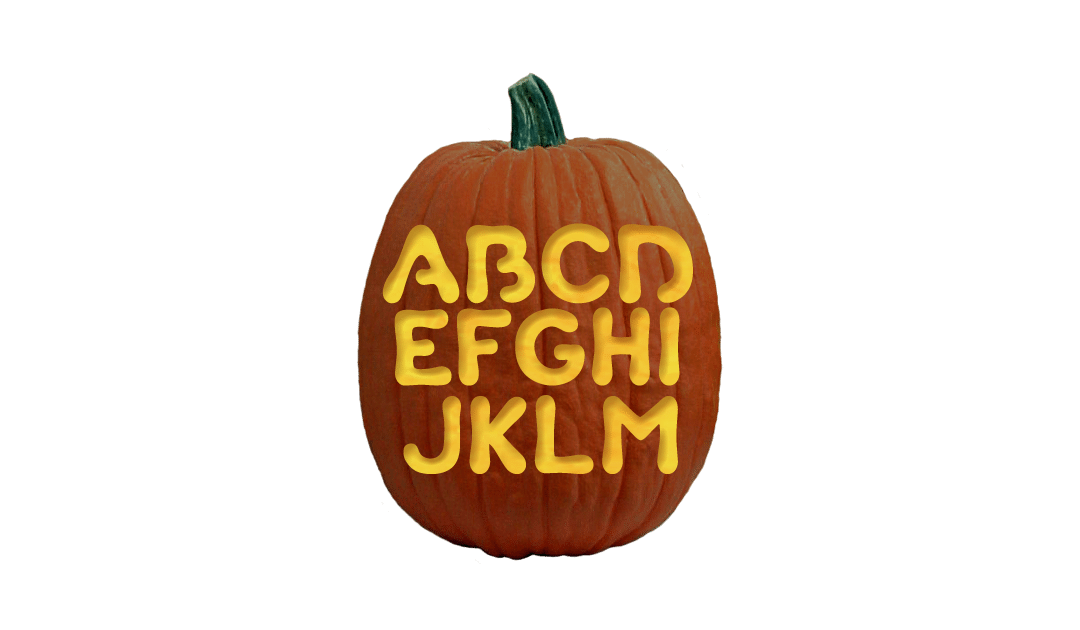 Bubble Letters And Numbers Pumpkin Carving Pattern Pumpkin Carving Pumpkin Carving Patterns Free Pumpkin Carving Patterns
