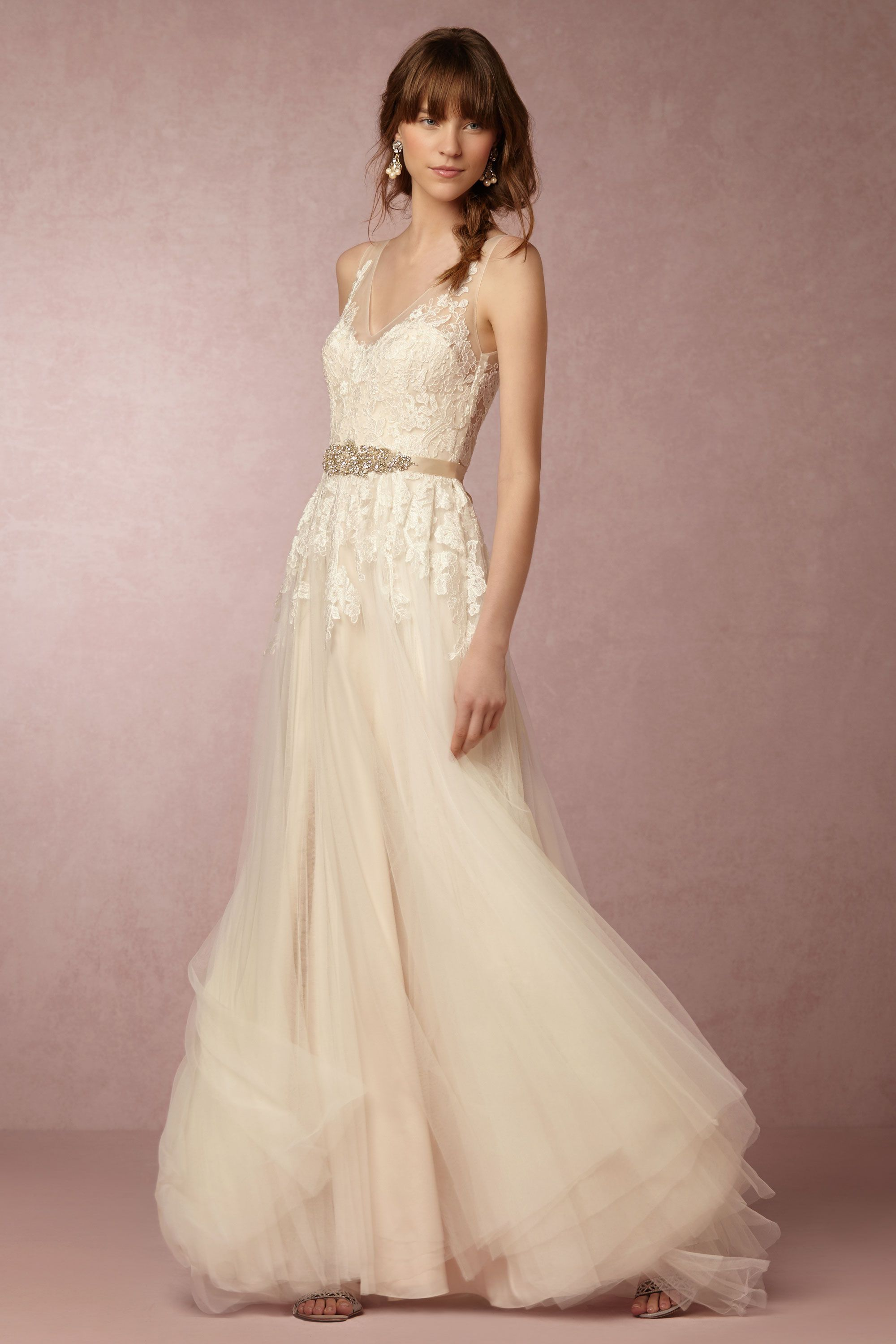 Bhldn 39 s watters reagan gown in porcelain gowns wedding for Anthropologie beholden wedding dress
