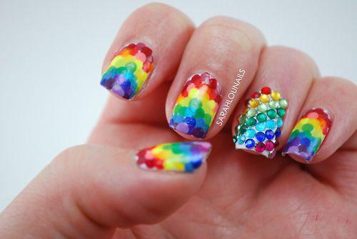 Uñas Decoradas Con Nubes Y Arcoíris 3 Nails My Ocult Passion