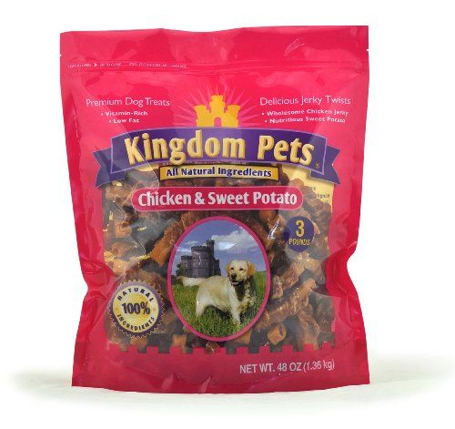Kingdom Pets Premium Dog Treats Chicken And Sweet Potato Jerky Twists 48 Ounce Bag For More Information Premium Dog Treats Chicken Sweet Potato Dog Treats