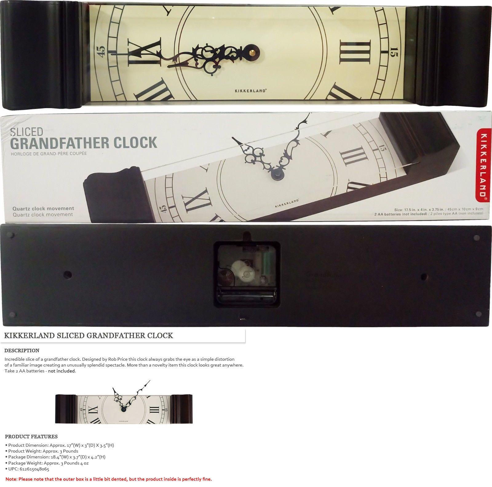 grandfather clocks  kikkerland sliced grandfather clock on  - grandfather clocks  kikkerland sliced grandfather clock on sale free expedited shipping
